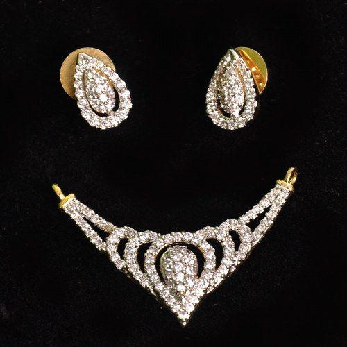 Designer American Diamond Mangalsutra Pendant