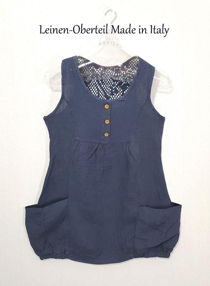 Kleid Tunika Häkel ITALY Spitze Leinen LAGENLOOK Sommer Netz Gr M 38 40  blau K23   1 Blusen Farben Form   Pinterest   Lagenlook, Netz und Leinen 0f8455d770