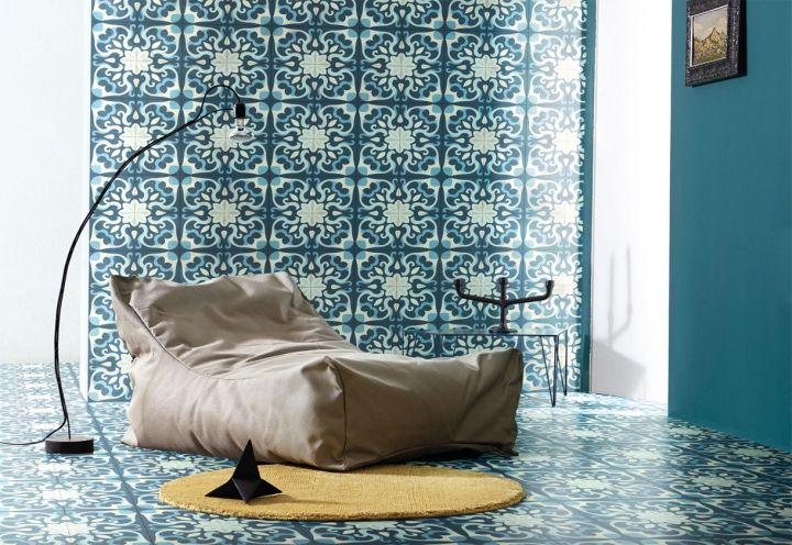 Piastrelle di cemento colorato di Carlo Dal Bianco per Bisazza, che possono essere usate per pavimenti e pareti