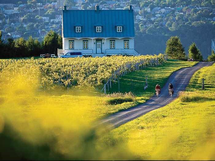 Biking Ile d'Orléans