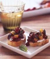 Rainier Cherry Bruschetta | HEALTHY DESSERTS | Pinterest