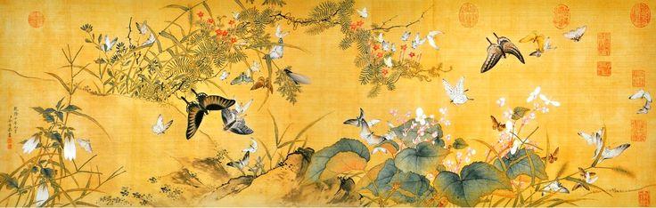 Zhou Kun 周坤 — One hundred butterflies 百蝶 (1414x450):