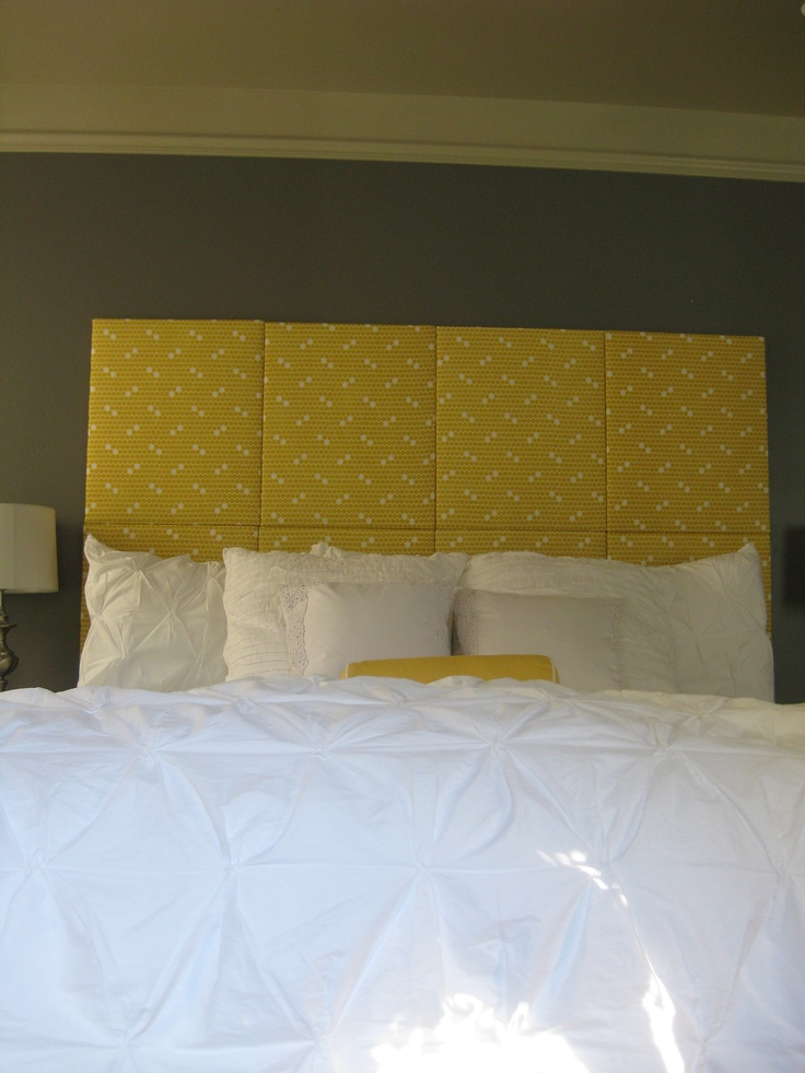 DIY Headboard. Fabric covered artist canvases.  Home Decor ...