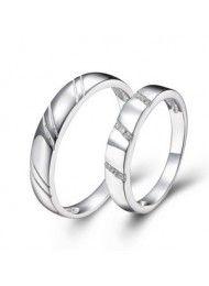 Sterling zilveren ring op de ring die koppels gelofte 0118