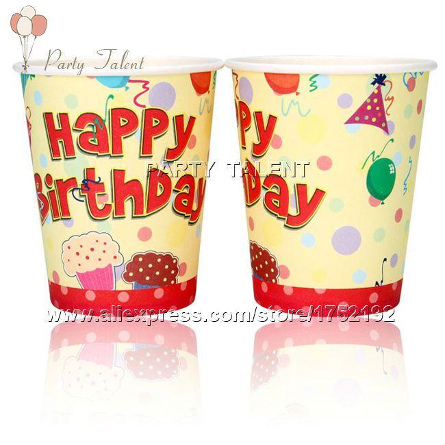 Ну вечеринку поставляет 20 шт. тема день рождения ну вечеринку украшения одноразовая посуда разовые бумажный стаканчик чашки