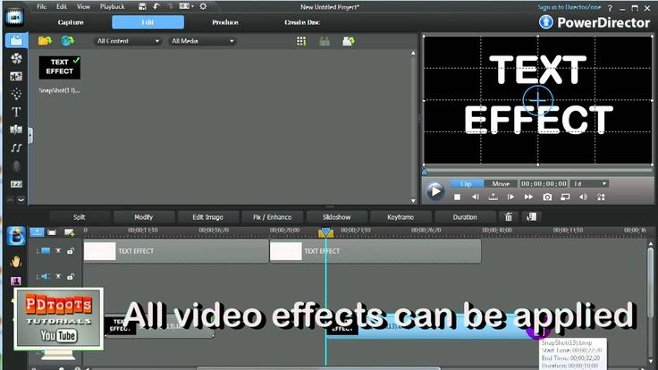 PowerDirector - Text Effects
