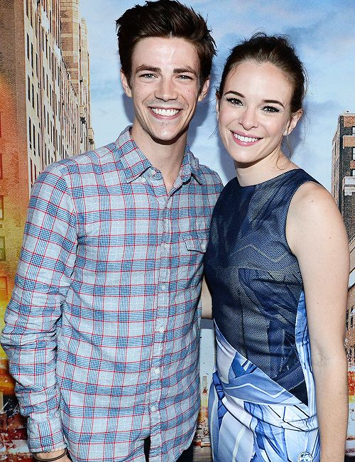 Danielle Panabaker and Grant Gustin attend Buzzfeed's The Flash Bash, 25 July 2014