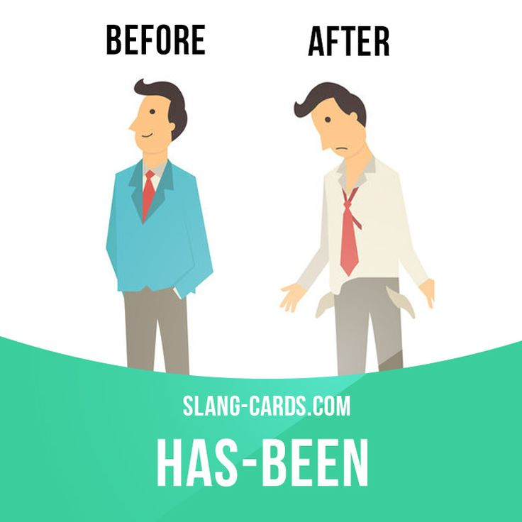 """Has-been"" is someone who is no longer successful or popular.  Example: Craig used to sing with The Backstreet Boys, but now he's a has-been and working at McDonald's.   #slang #englishslang #saying #sayings #phrase #phrases #expression #expressions #english #englishlanguage #learnenglish #studyenglish #language #vocabulary #dictionary #grammar #efl #esl #tesl #tefl #toefl #ielts #toeic #englishlearning #hasbeen"