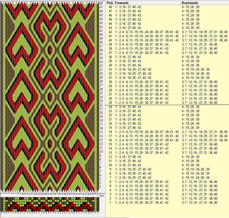 42 tarjetas hexagonales, 4 colores, repite cada 24 movimientos // sed_413_c6…