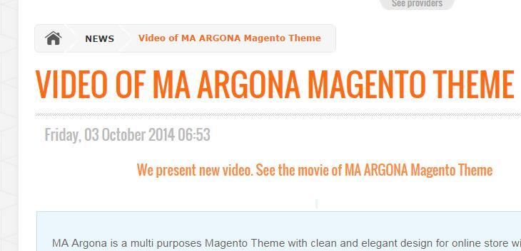 MA Argona #magento #theme #video released. Watch it!