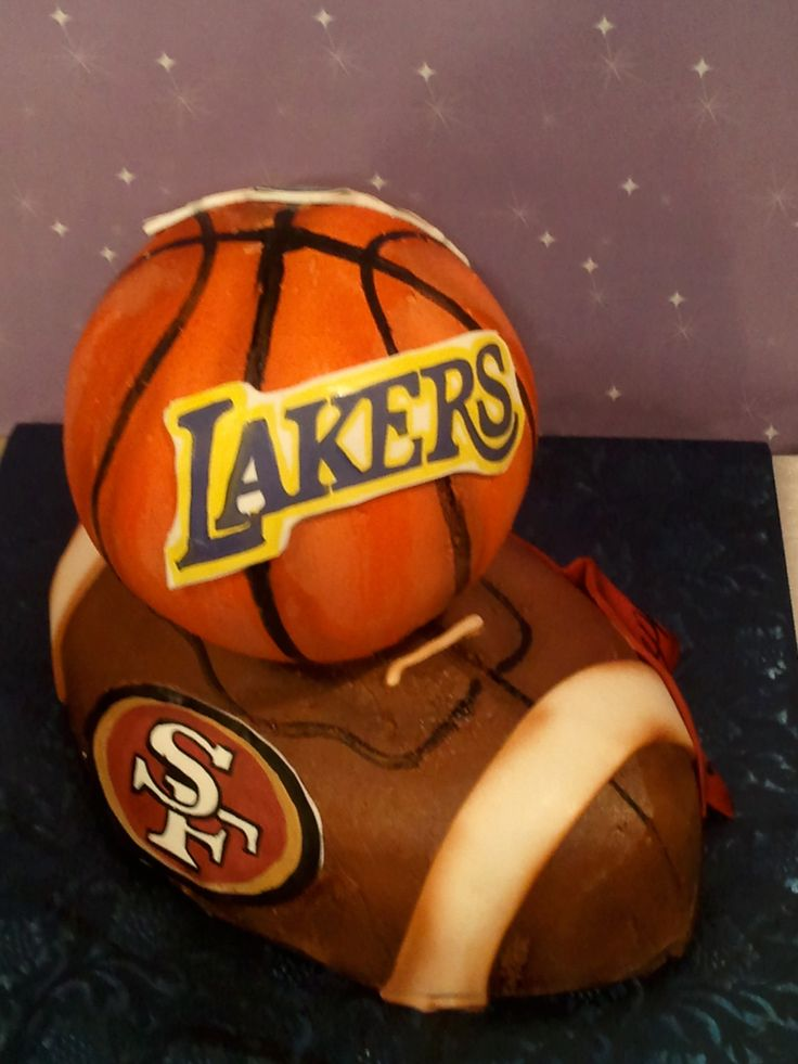 3d Football And Basketball Cake Buttercream With Fondant