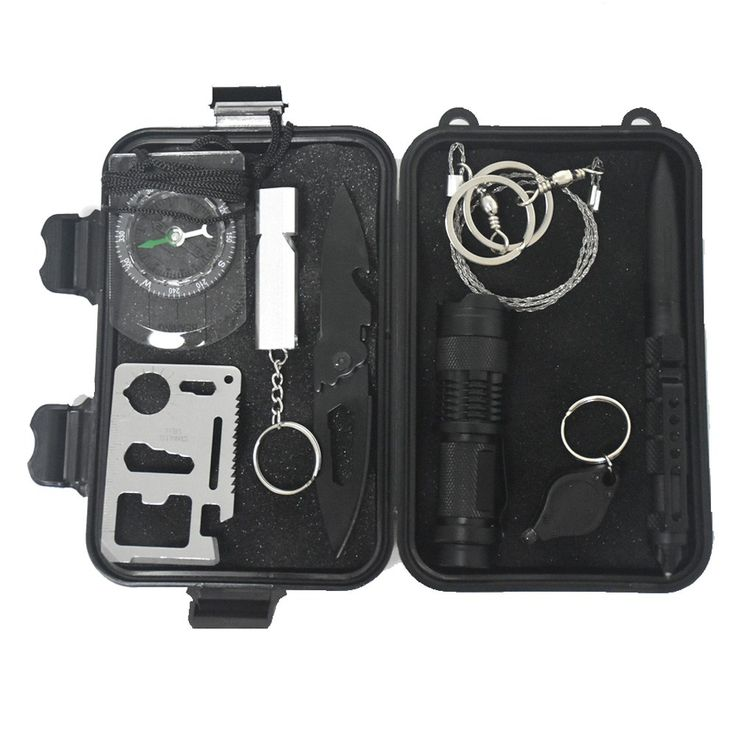 9 in 1 Outdoor survival kit emergency bag field survival box self-help box SOS equipment for Camping Hiking //Price: $39.99 & FREE Shipping //     #knife #army #gear #freedom #knifecommunity #airsoft