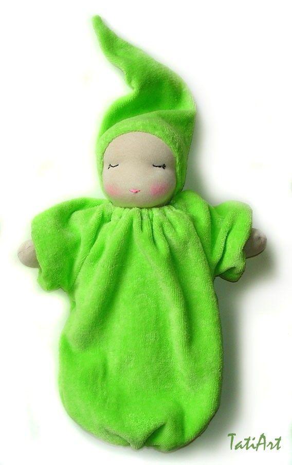 sleeping waldorf doll