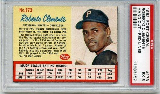 12) Roberto Clemente tenía un promedio de bateo de .317 en su carrera.