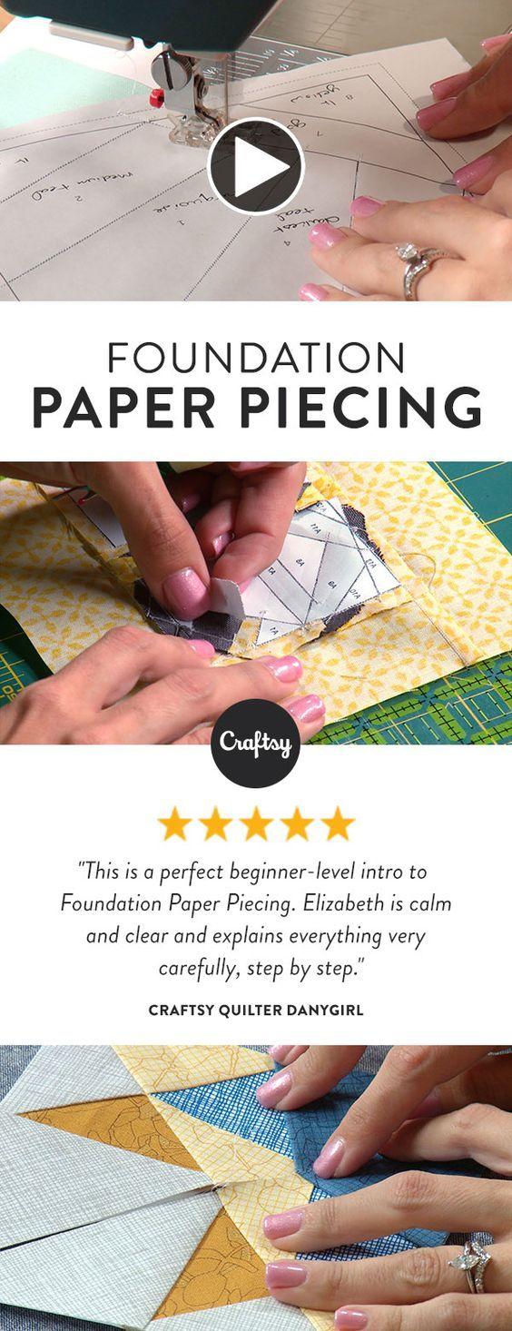Start Foundation Paper Piecing Quilting Class Gigi's CakeBoutique