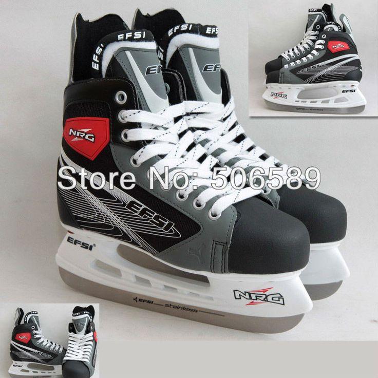 Livraison gratuite adulte de patins de hockey gris couleur