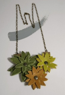 A fun leather necklace. I'm thinking of conning my friend Andrea out of some of her leather scraps!