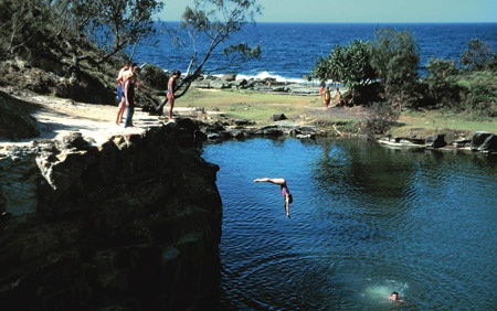 A local's secret, the Blue Pools at Angourie are a great place to cool off! Angourie, NSW, Australia.