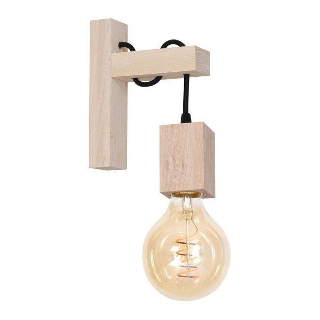 Kinkiet Jack 1 X 40 W E27 Naturalne Drewno Kinkiety Lampy Scienne I Sufitowe Oswietlenie Urzadzanie Wall Lights Lights Sconces