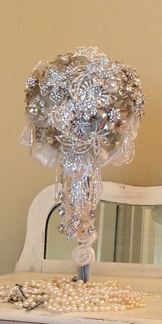 Custom Cascading Brooch Bouquet   In Choice of Color    $325.00
