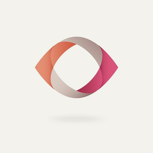 Simple, professional, and it has a splash of color. This could be used as a logo over a wide range of different kinds of businesses. It almost kind of represents an abstract eye, in a way.