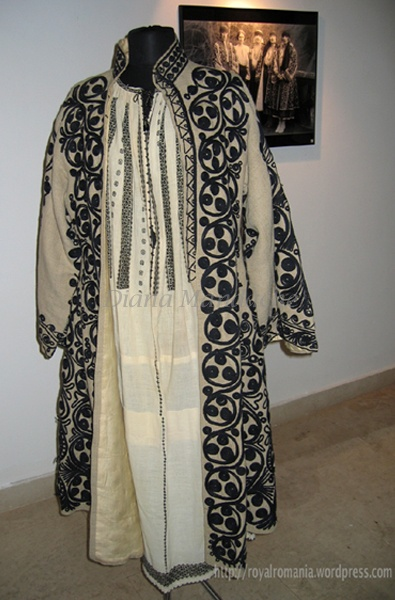 Romanian traditional costume of Helen, Queen-Mother of Romania.