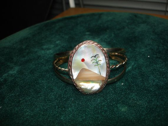 Inlayed Adjustable Mother of Pearl Silver by lapidarydreams2, $15.00