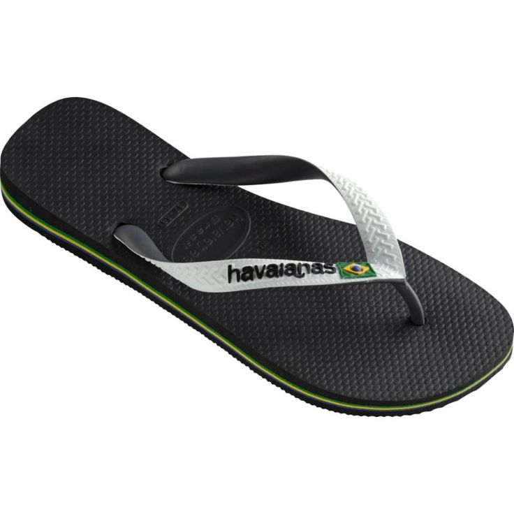 Havaianas Men's Brazil Mix Flip Flops, Black