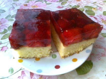 Szybkie ciasto z galaretką i truskawkami - Krok 3