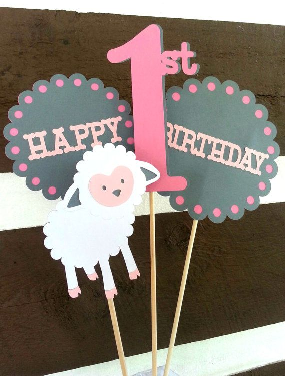 Little Lamb Centerpiece. Birthday PartyONE. by Kirascollection