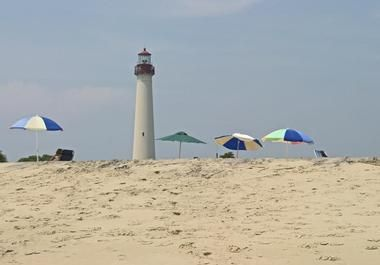 The Cape May Lighthouse was built in 1859 just two miles from the city of Cape May.
