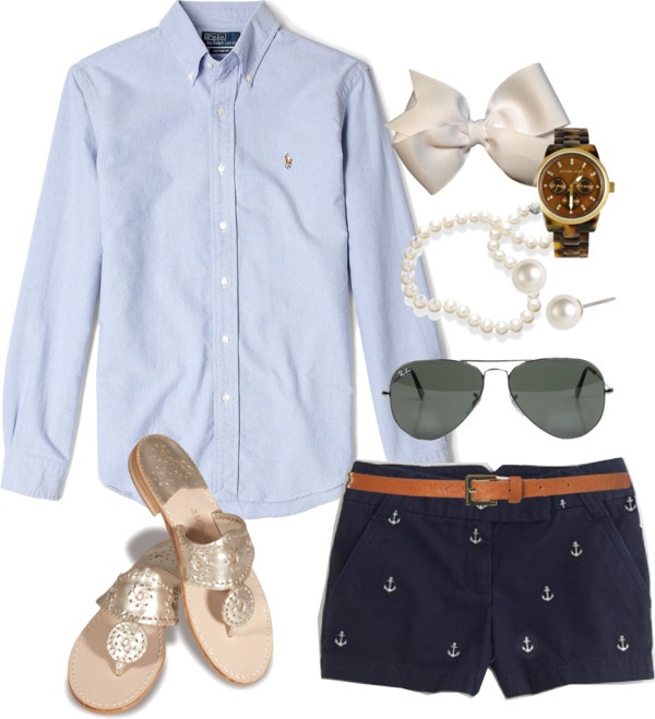Very cute for the summer time! Love the dark and light blues!... Not really into the bow!