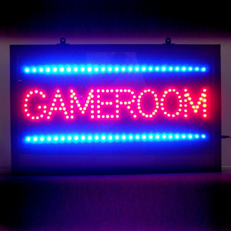 Neonetics 5GAMLE Gameroom LED Sign Game Room Decor - ATG Stores