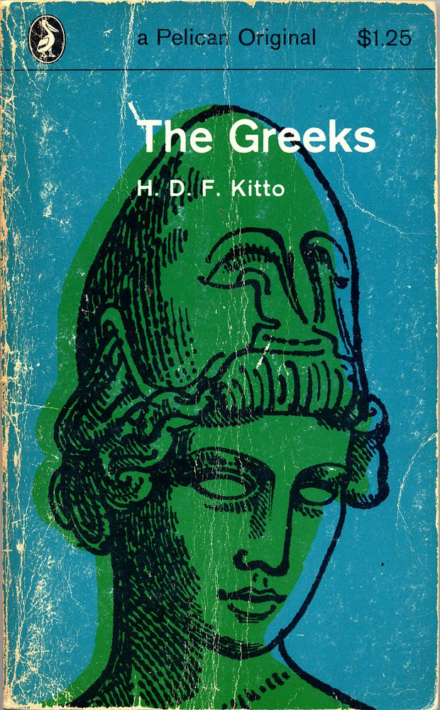 Cover illustration by David Gentleman for 'The Greeks' by H D F Kitto, 1965