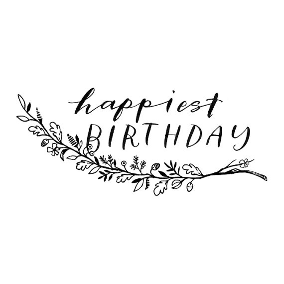 Happy Birthday Calligraphy Font Happy Birthday Greeting Card Design
