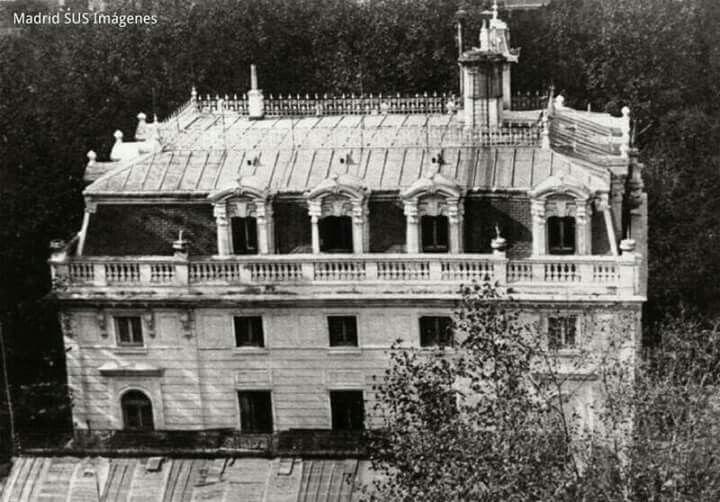 Paseo de la Castellana el desaparecido Palacio de la Huerta
