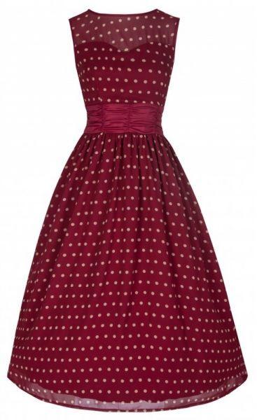 LindyBop retro šaty Cindy, vínové