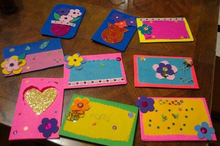 Tarjetas de mis alumnos para el día de las madres :3  #Ideas creativas. #materiales #manualidades #escuela #profesores #docente #didactico #niños #school #teacher #children