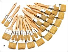Disposable Natural-Bristle Brushes - Woodworking - Economical encaustic brushes!