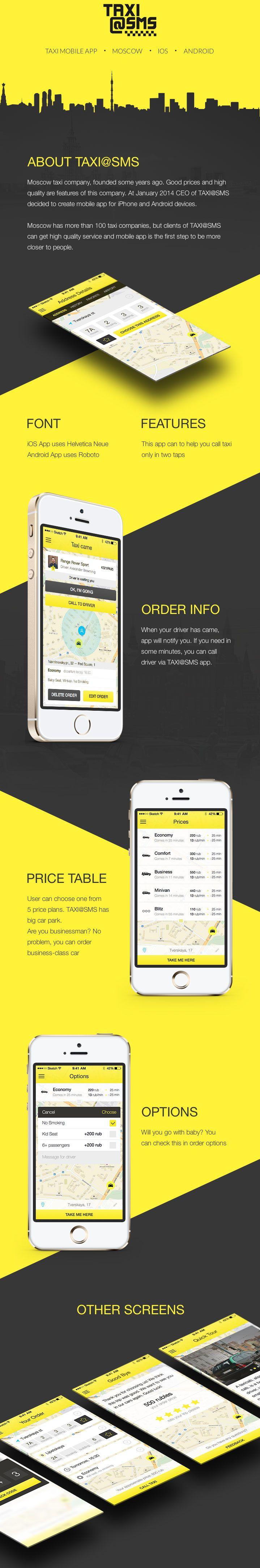 TaxiSMS App taxi geolocalisation app order  ios ios7 iphone