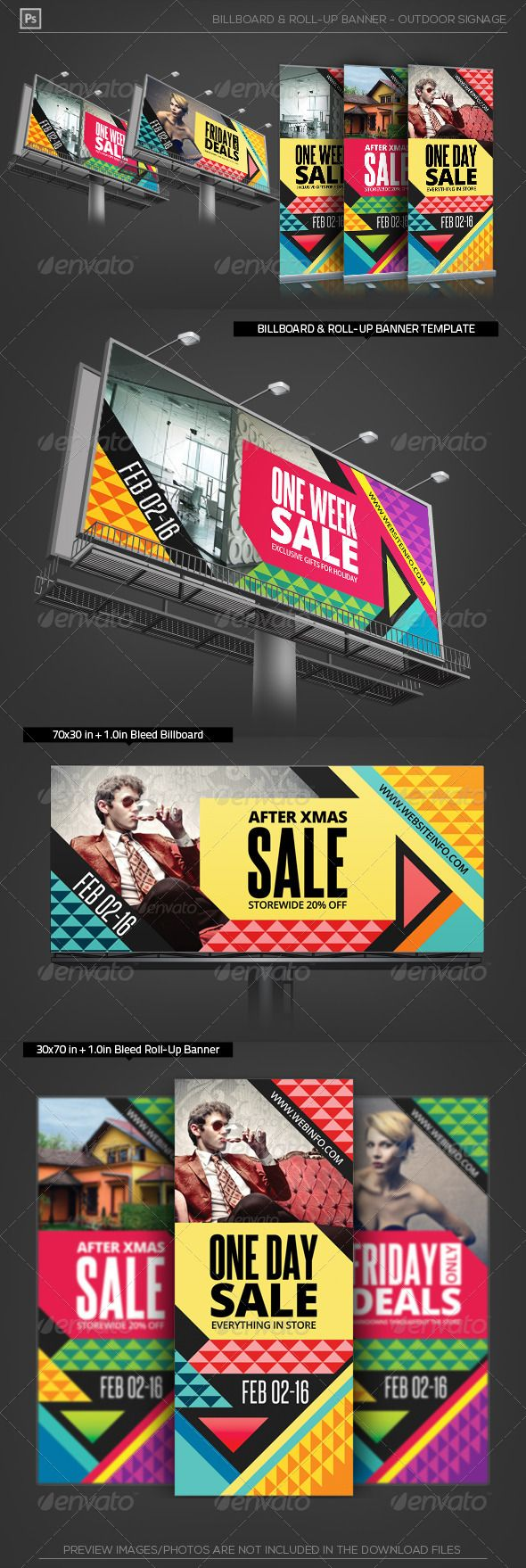Holiday Sale Billboard Roll-Up Outdoor Banner