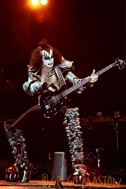KISS - Gene Simmons - 1981 by Gregg Maston Photography, via Flickr