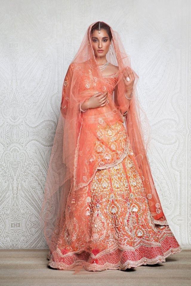 Orange lengha by Tarun Tahiliani