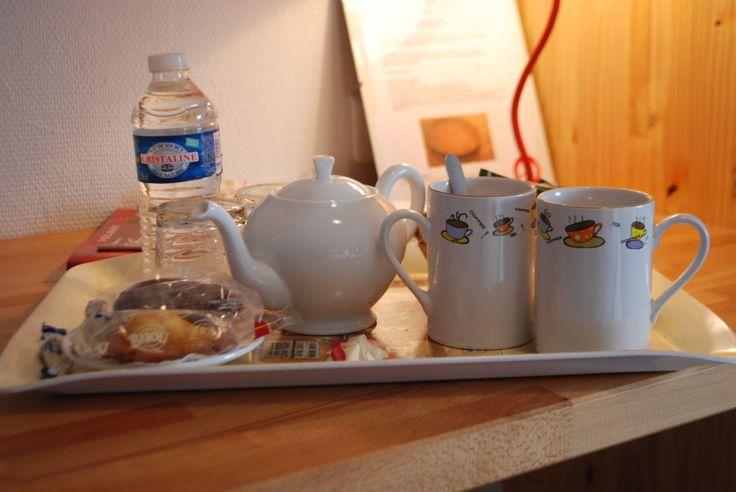 Un plateau de courtoisie, un moment détente avec un infusion, un thé, un café...