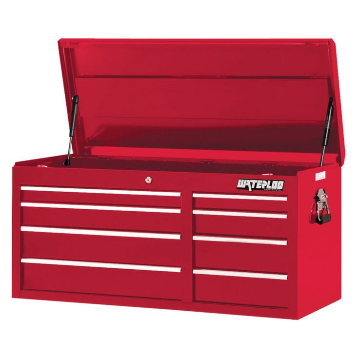 Waterloo Professional 41 in. Red 8 Drawer Chest - PCH-418RD