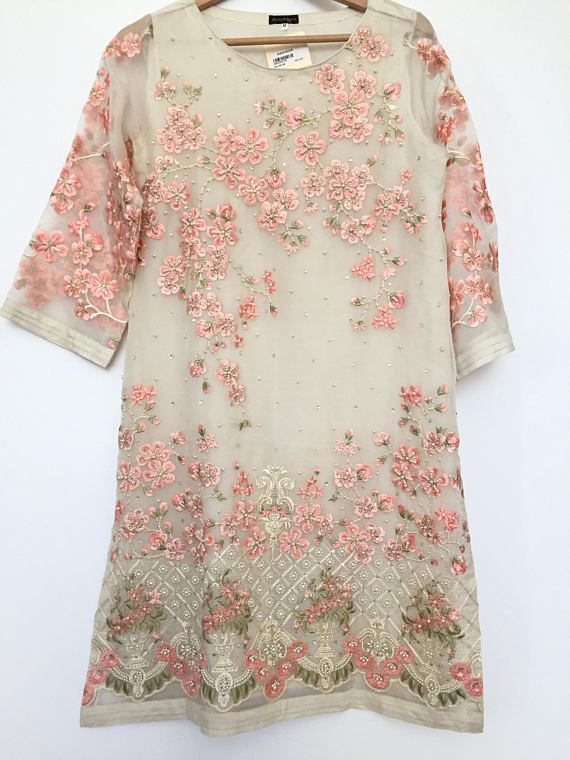 Ladies Kurta Pakistani Indian Kurti Embroidery Shirts Tops Kameez