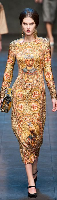 Dolce & Gabbana F/W 2013 RTW Milan FW...for going to church?