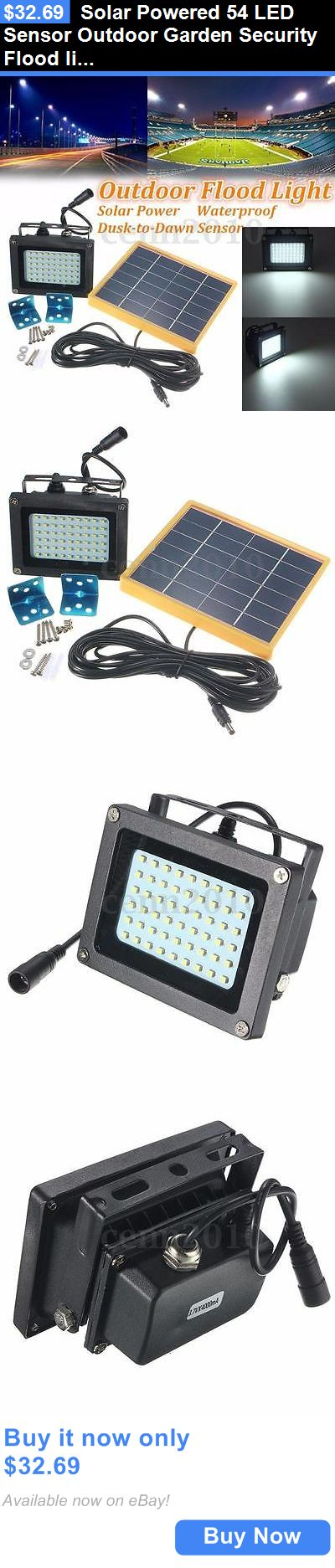 farm and garden: Solar Powered 54 Led Sensor Outdoor Garden Security Flood Light Waterproof Us BUY IT NOW ONLY: $32.69