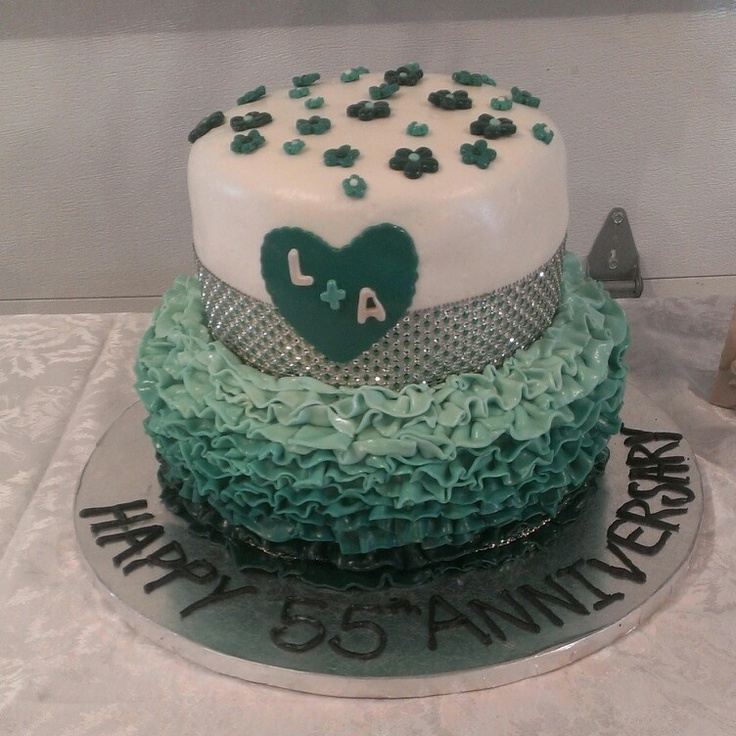 11 best Anniversary cake ideas images on Pinterest 40th