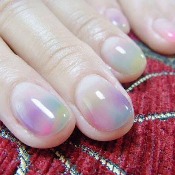 @nailcommon - water color nails